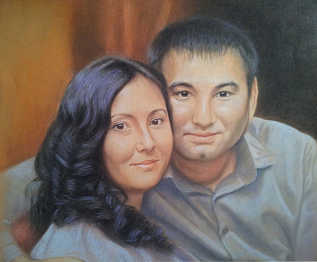 Заказать семейный портрет пастелью