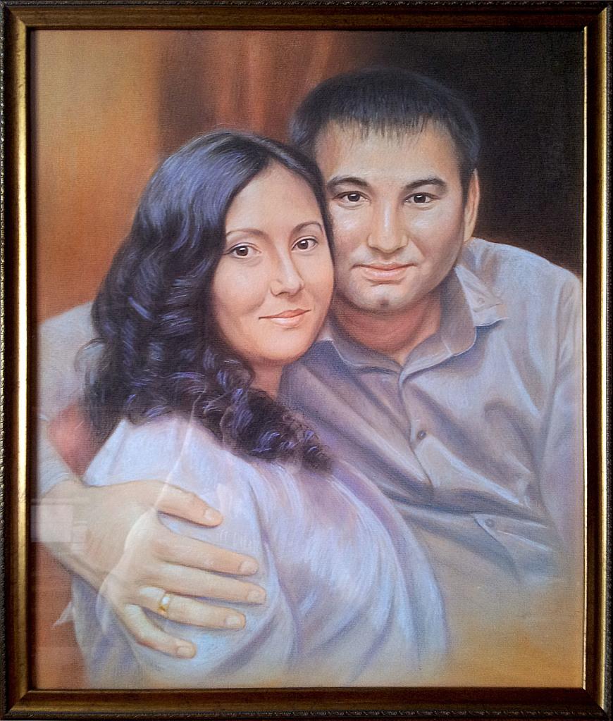Портрет пастелью на заказ в краснодаре