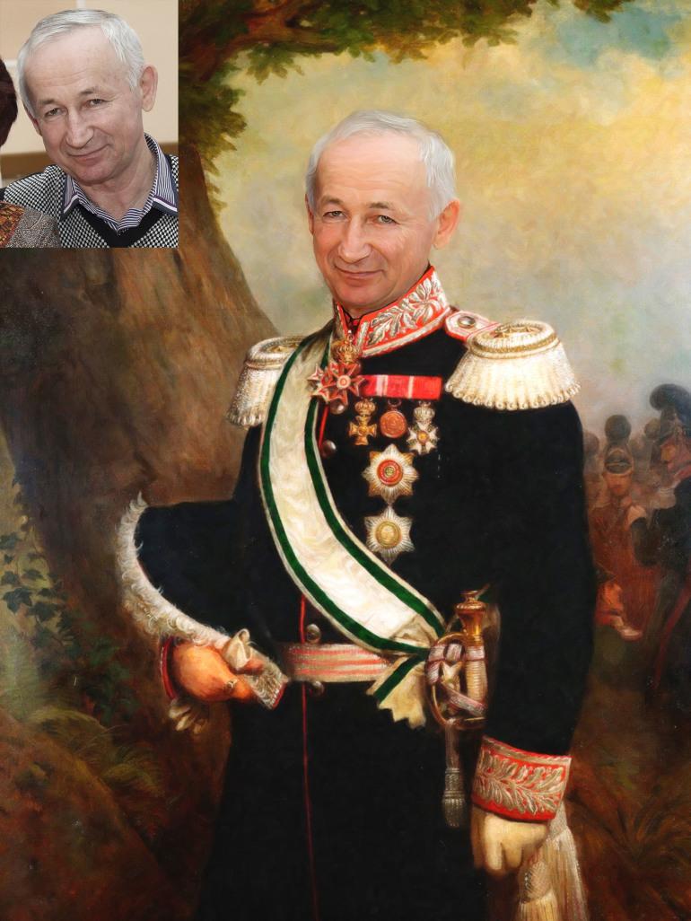 Где заказать исторический портрет по фото на холсте в Краснодаре?