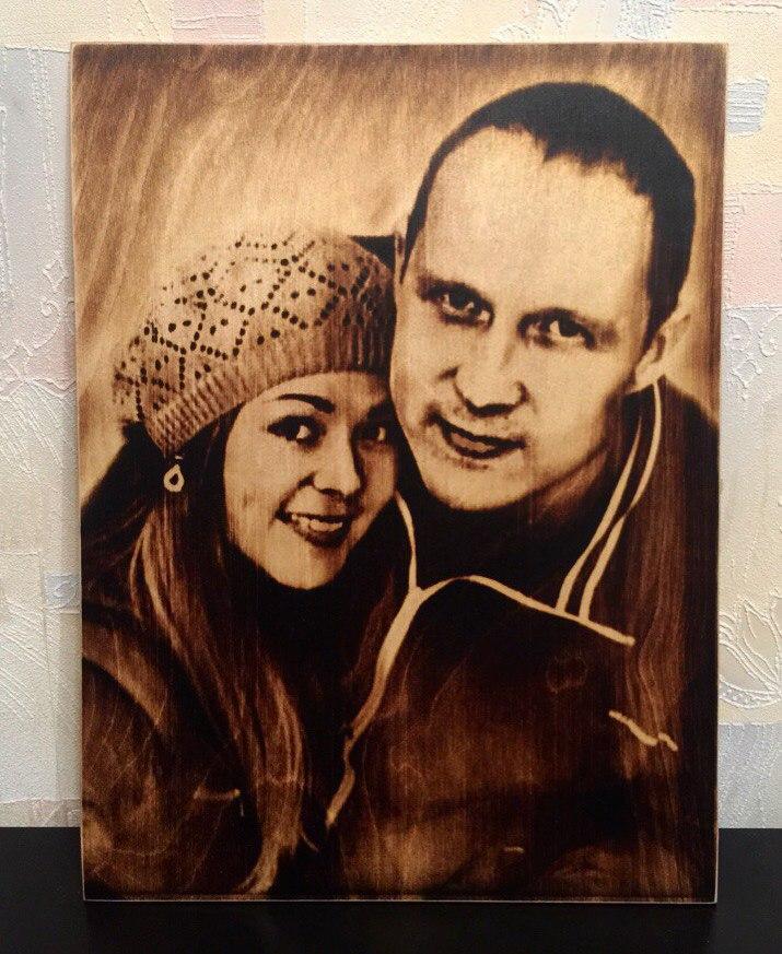 выжигание портретов по дереву на заказ в Краснодаре