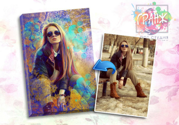 Портрет по фото на заказ в честь 8 марта в Краснодаре