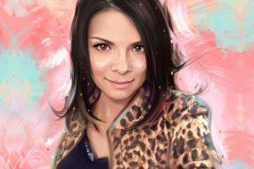 Портрет по фото, подарок на 14 февраля. Заказать в Краснодаре.