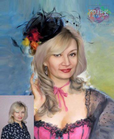 Заказать арт портрет по фото на холсте в Краснодаре