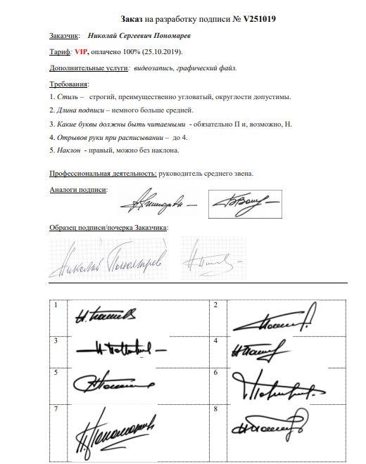 Разработка личной подписи онлайн Краснодар