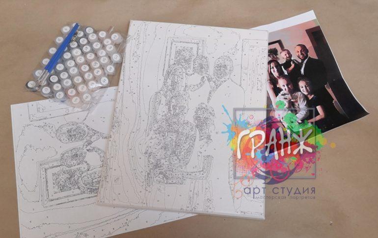 Картина по номерам по фото, портреты на холсте и дереве в Краснодаре